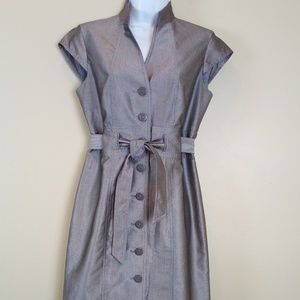 Calvin Klein Silver/ Gray Trench Dress Size 4